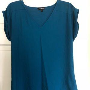 Teal express dress shirt